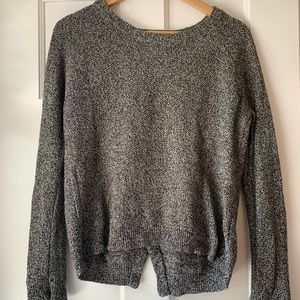 Madewell | Open Back Marled Sweater